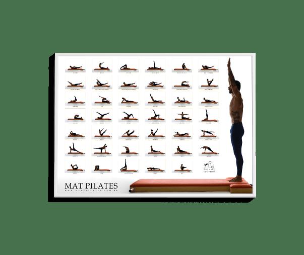 Mat Pilates Poster 2 a3 - Nanô Pilates